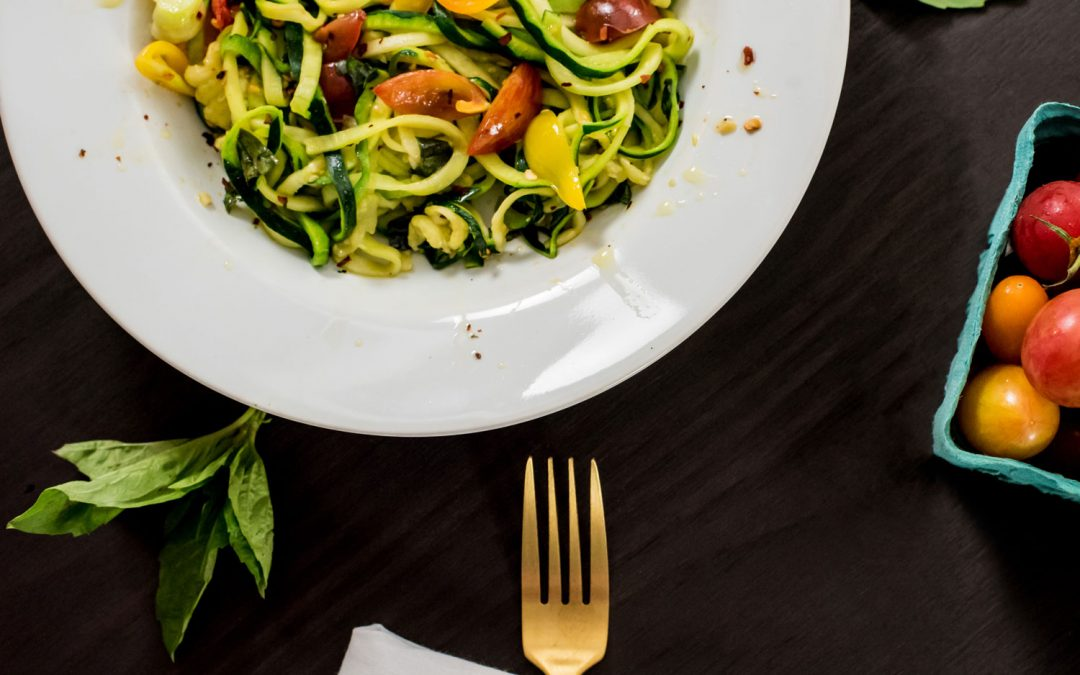 Zucchini Pasta with Tomato and Basil