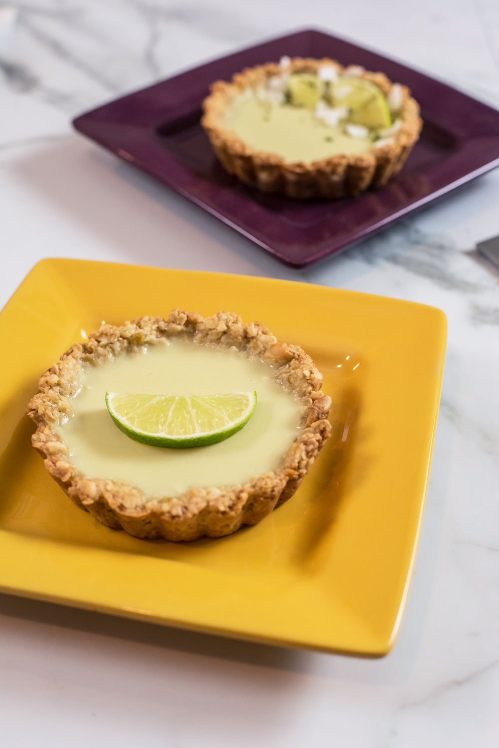 Vegan Lime Coconut Tartlet with Ginger Crust | Rainbowl Foods