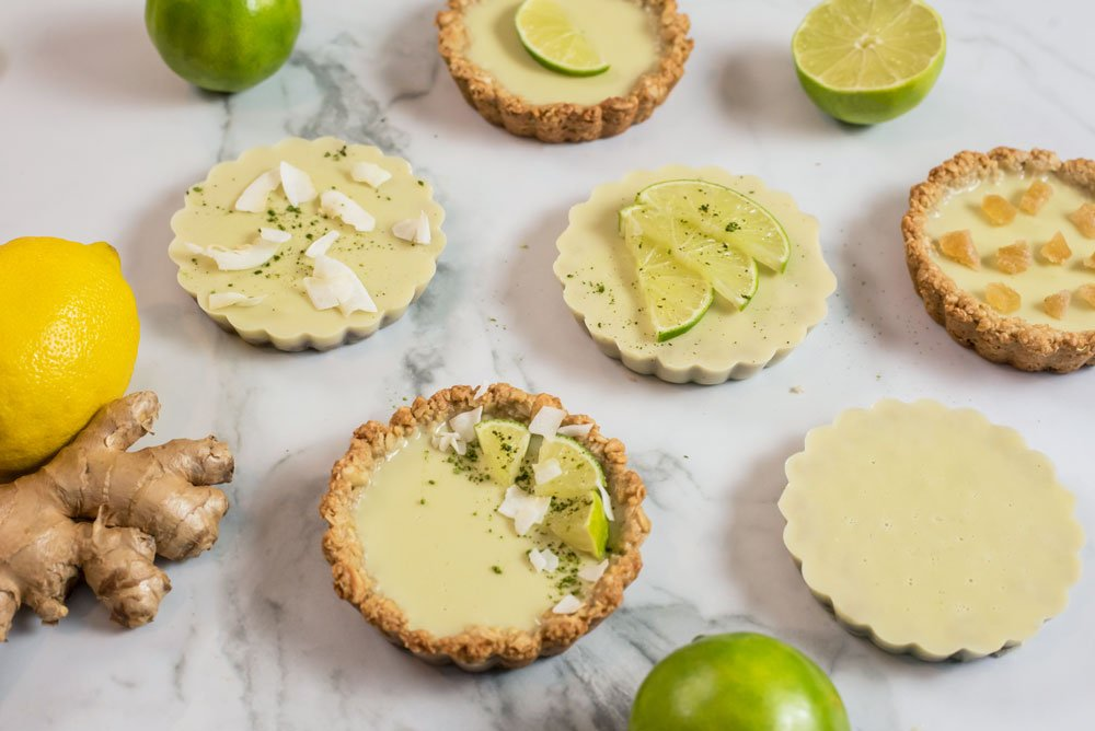 Gluten-Free Lime Coconut Tartlet with Ginger Crust | Rainbowl Foods