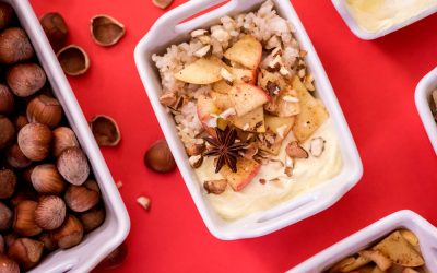 Apple Cinnamon Coconut Rice Pudding