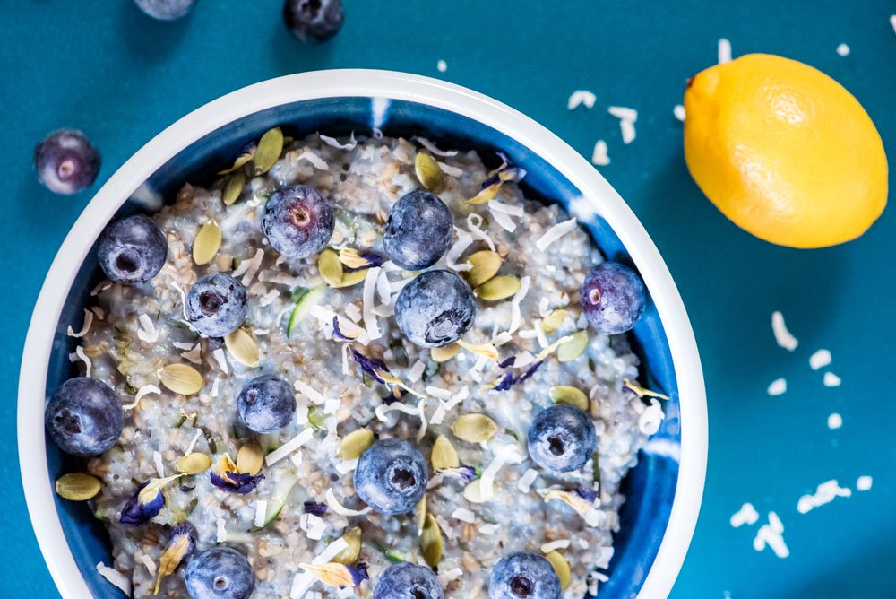 Blue Zucchini Steel Cut Oats
