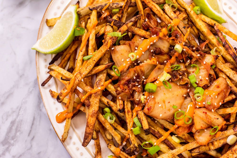Spicy Kimchi Fries