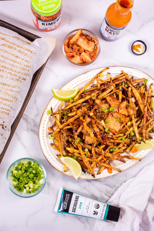 Spicy Kimchi Fries   Rainbowl Foods
