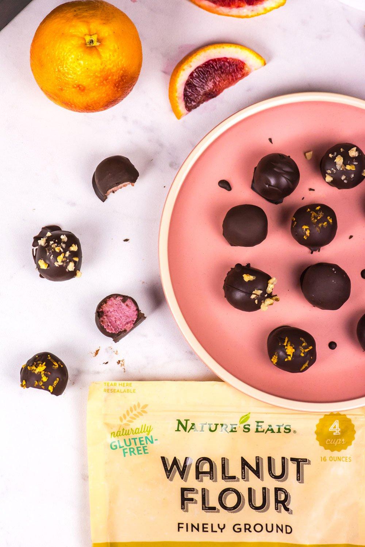 Nature's Eats Blood Orange Walnut Truffles | Rainbowl Foods