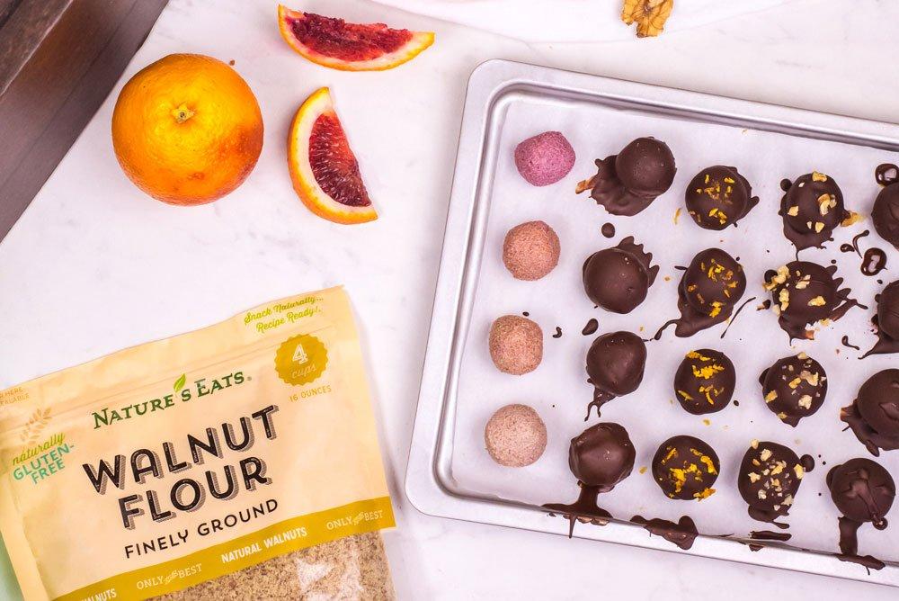 Nature's Eats Blood Orange Walnut Truffles   Rainbowl Foods