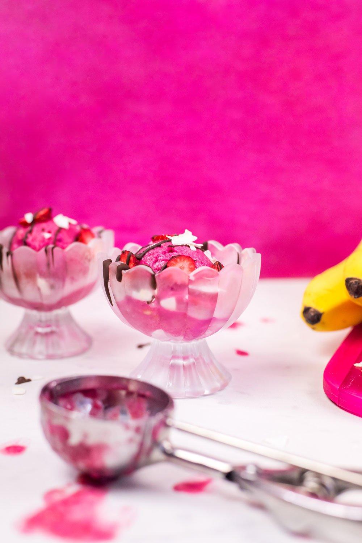 Strawberry Peach Nice Cream | Rainbowl Foods