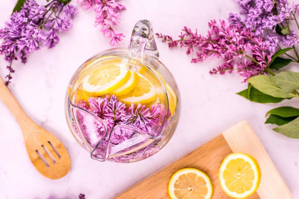 Lilac Lemon Water