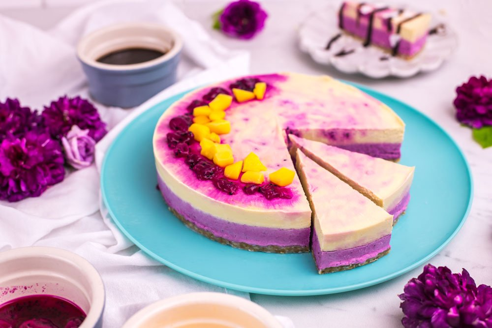 Mango Pitaya Dairy-Free Cheesecake Recipe | Rainbowl Foods