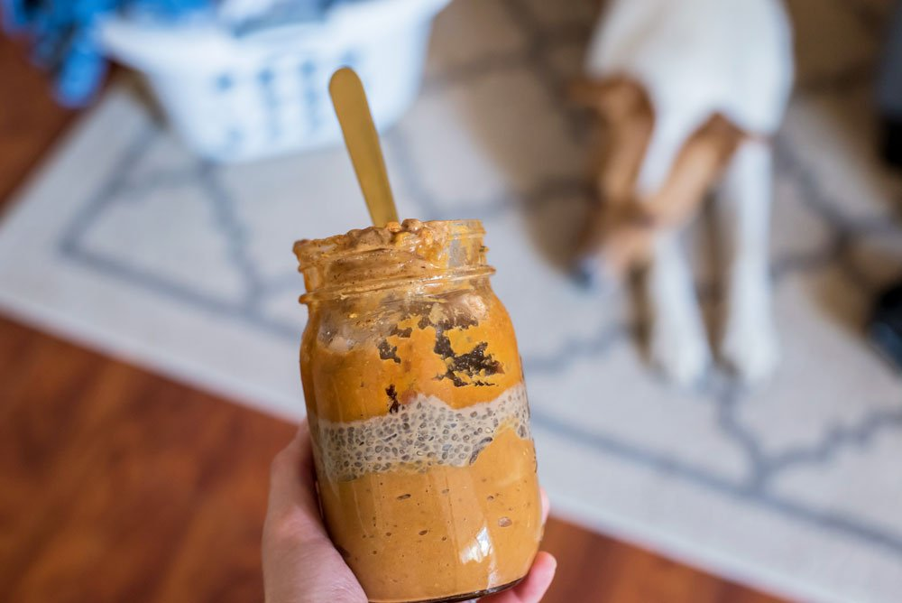 Sweet Potato Pumpkin Smoothie and Chai Chia Seed Pudding Parfait | Rainbowl Foods