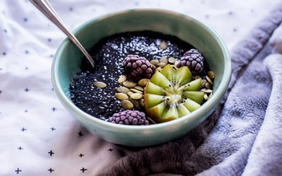 Detox Charcoal Chia Seed Pudding