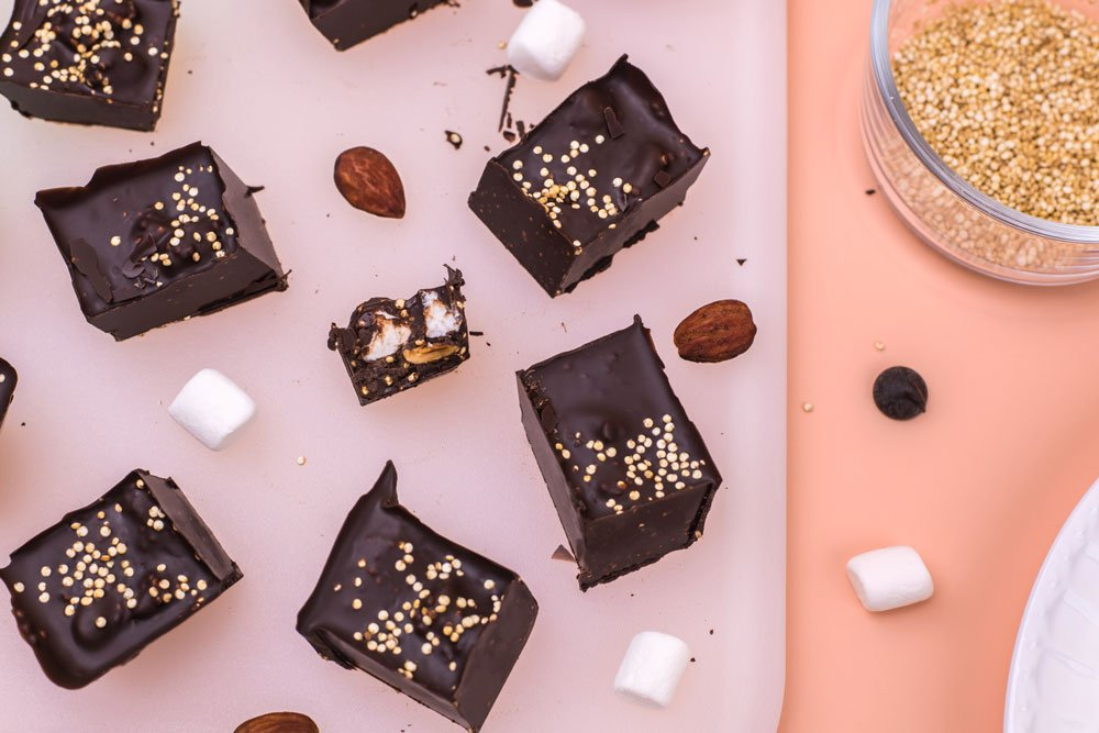 Rocky Road Quinoa Candy Bars | Rainbowl Foods