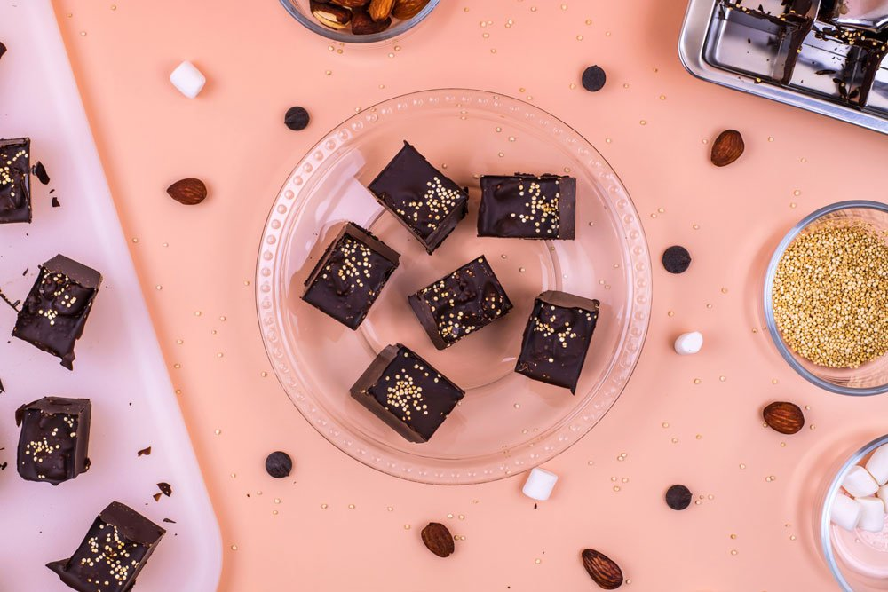 Rocky Road Quinoa Candy Bars