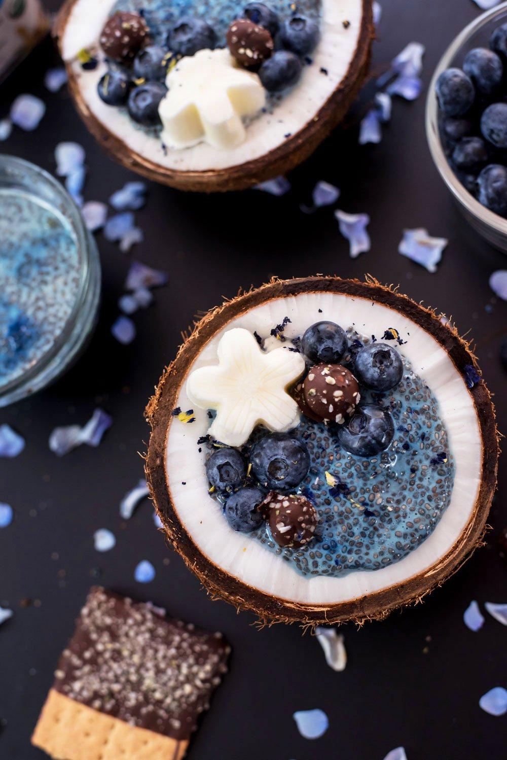 Blue Chia Seed Pudding Recipe | Vegan and Gluten-Free | Rainbowl Foods